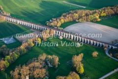 France, Haut Rhin, Sundgau, Viaduc de Dannemarie (vue aérienne)//France, Haut Rhin, Sundgau, Viaduc of Dannemarie (aerial view)