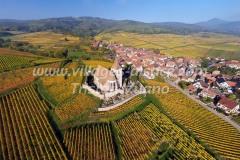 Eglise Fortifiée d'Hunawihr, Alsace, vue par ULM